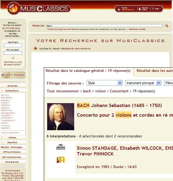 Moteur de recherche php ajax