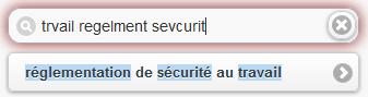 Suggestions moteur de recherche