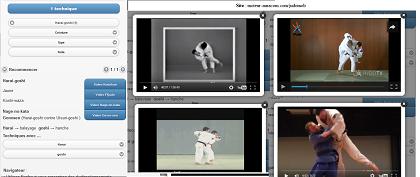 Moteur de recherche interne - Judo Kodokan - 100 techniques 100 videos - Sur Apple store